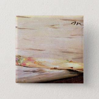 Manet |のアスパラガス1880年 5.1cm 正方形バッジ