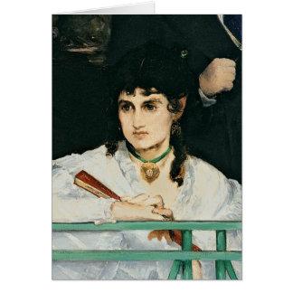 Manet  バルコニー、詳細1868-9年 カード
