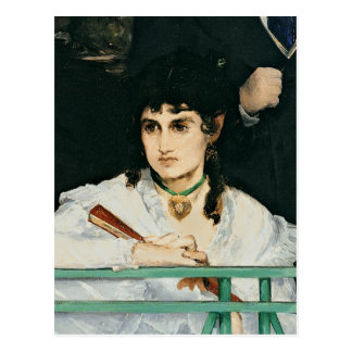Manet  バルコニー、詳細1868-9年 ポストカード