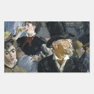 Manet: Caféコンサート、 長方形シール