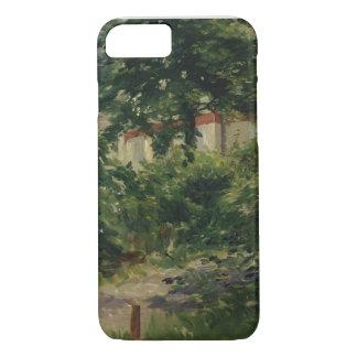 Manet | Rueil 1882年の庭のコーナー iPhone 8/7ケース