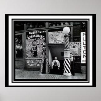 Manhattenの理髪店のレストランポスター16 x 20 ポスター