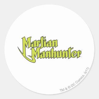 Manhunterの火星のロゴ ラウンドシール