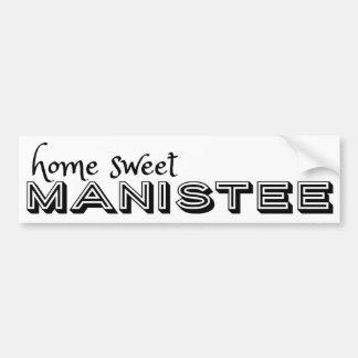 Manisteeの家の甘いバンパーステッカー バンパーステッカー