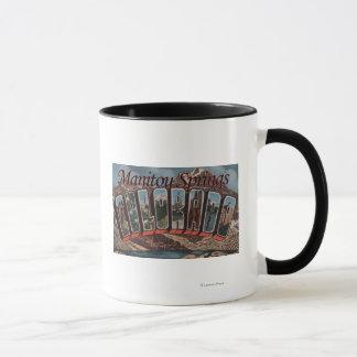 Manitouの春、コロラド州-大きい手紙場面 マグカップ