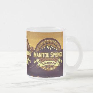 Manitouはマグ鮮やかなはねます フロストグラスマグカップ