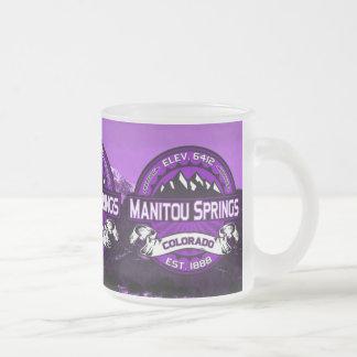 Manitouは紫色マグのはねます フロストグラスマグカップ