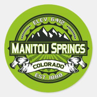 Manitouは緑ロゴのはねます ラウンドシール