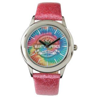 Manitouは腕時計絞り染めのはねます 腕時計