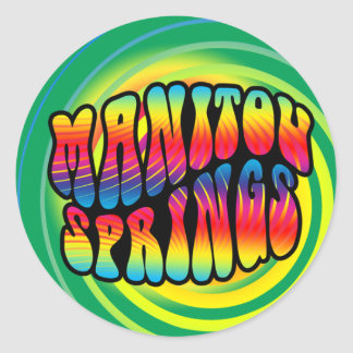 Manitouは腰回りが大きでトリップ(幻覚体験)のようななステッカーはねます ラウンドシール