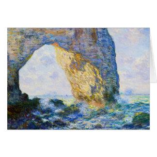 ManneportのEtretat Monetの西の石のアーチ カード