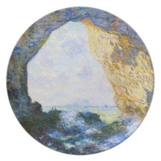 ManneportのEtretat Monetの西の石のアーチ プレート
