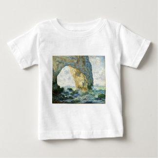 Manneporteの石のアーチ- Étretat (ノルマンディー) - Monet ベビーTシャツ