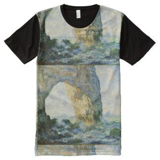 Manneporteの石のアーチÉtretat (ノルマンディー) - Monet オールオーバープリントT シャツ