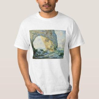 Manneporteの石のアーチÉtretat (ノルマンディー) - Monet Tシャツ