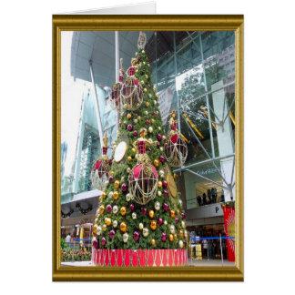 Manniquinのクリスマスツリー カード