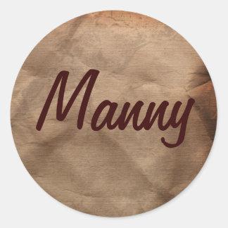 MANNYの一流のステッカーのコレクション ラウンドシール