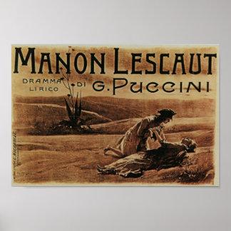 Manon Lescaut ポスター