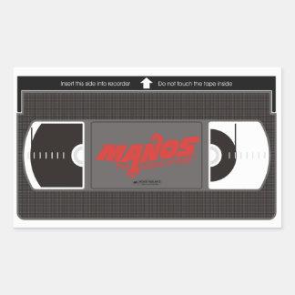 Manos運命のビデオカセットの手 長方形シール