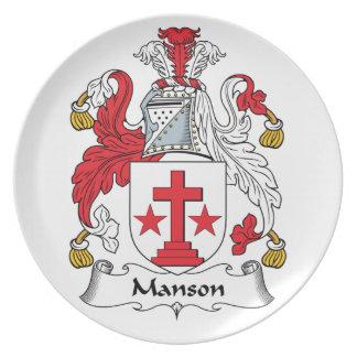 Mansonの家紋 プレート