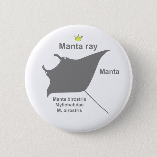 Manta ray g5 5.7cm 丸型バッジ