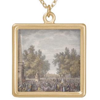 Mantua、24 Vendemiaireの賛成のVirgilの饗宴 ゴールドプレートネックレス