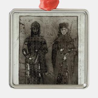 Manuel AntiochのI Comnenusおよび皇后マリア メタルオーナメント