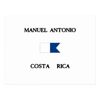 Manuel Antonioコスタリカのアルファ飛び込みの旗 ポストカード