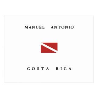 Manuel Antonioコスタリカのスキューバ飛び込みの旗 ポストカード