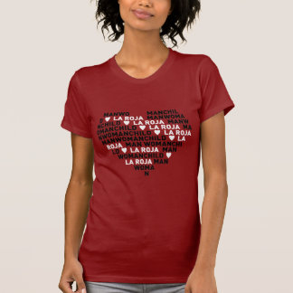 MANWOMANCHILDのハートのLA ROJAの女性のTシャツ Tシャツ