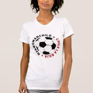 MANWOMANCHILDチリのLA ROJAの女性のTシャツ Tシャツ