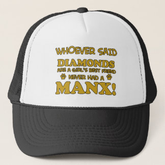 Manx猫のデザイン キャップ