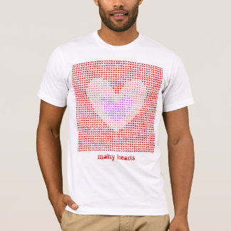 many hearts(red,pink,purple) tシャツ