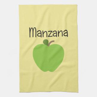 Manzana (Apple)の緑 キッチンタオル