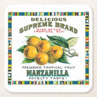Manzanillaおいしい最高のジャム スクエアペーパーコースター