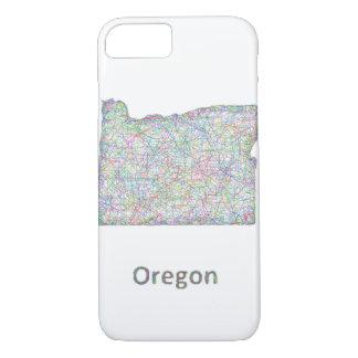 map_line_US_01_Oregon.ai iPhone 8/7ケース