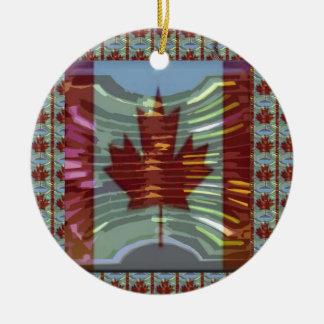 MapleLeaf: 誇りを持ったなカナダの価値の表現 セラミックオーナメント