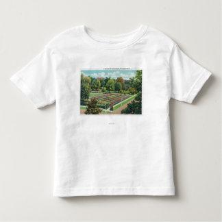 Maplewood公園のバラ園の眺め トドラーTシャツ