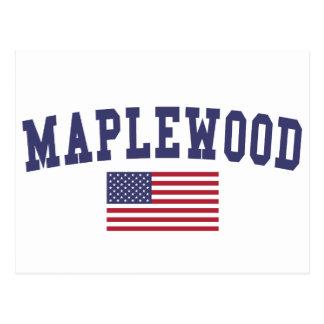 Maplewood米国の旗 ポストカード