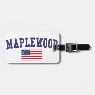 Maplewood米国の旗 ラゲッジタグ