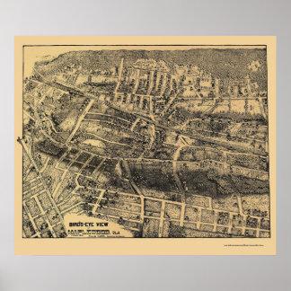 Maplewood、NJのパノラマ式の地図- 1910年 ポスター