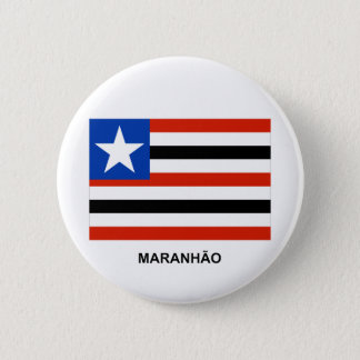 Maranhãoのブラジルの旗 缶バッジ
