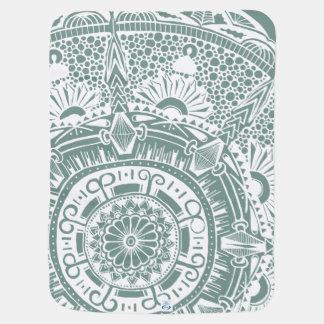Marble circle -baby blanket mandala doodling ベビー ブランケット