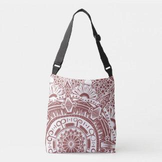 Marble circle bag mandala bohemian style クロスボディバッグ