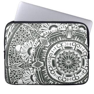 Marble circle laptop sleeve. mandala art pattern ラップトップスリーブ