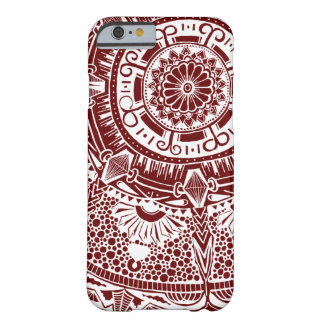 Marble circle Phone case bohemian mandala patterna Barely There iPhone 6 ケース