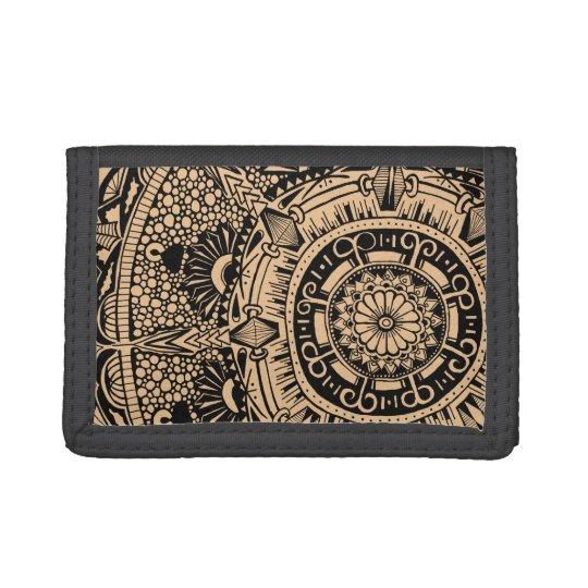 Marble Circle wallet. mandala pattern ナイロン三つ折りウォレット