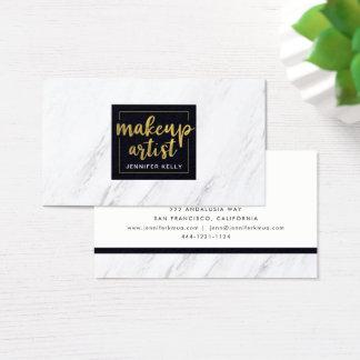 Marble Makeup Artist Business Card 名刺
