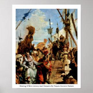 MarcアントニーおよびCleopatraの会合 ポスター