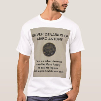 Marcアントニーの写真のTシャツの銀製のDenarius Tシャツ